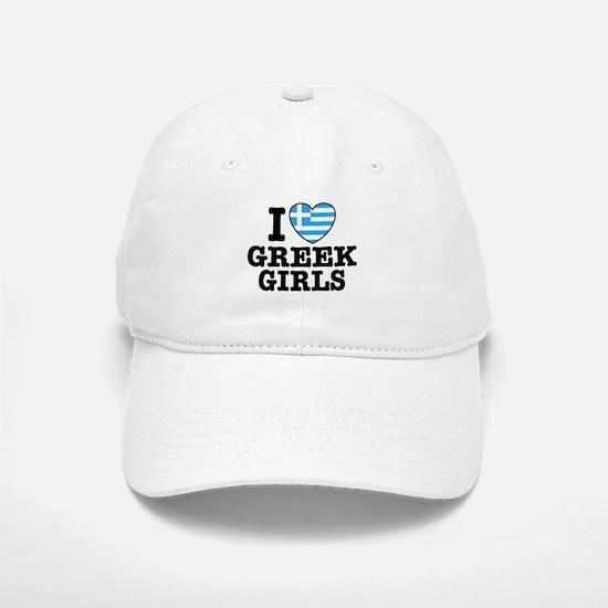 I Love Greek Girls Baseball Baseball Cap