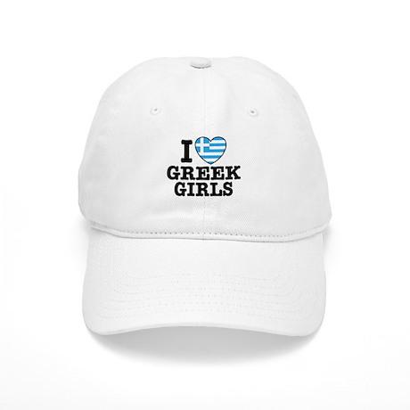 I Love Greek Girls Cap