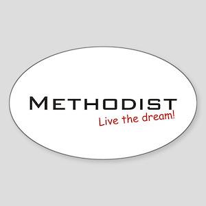 Methodist / Dream! Oval Sticker