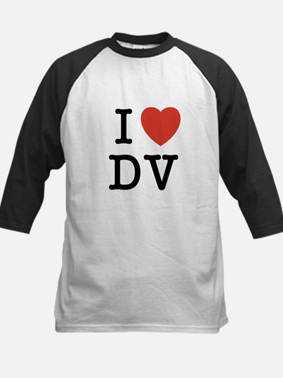 I Heart DV Kids Baseball Jersey