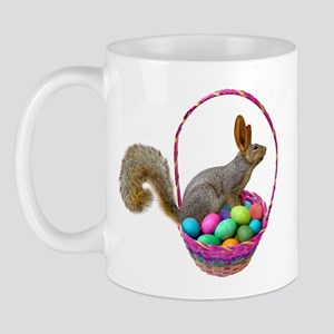 Easter Squirrel in Basket Mug