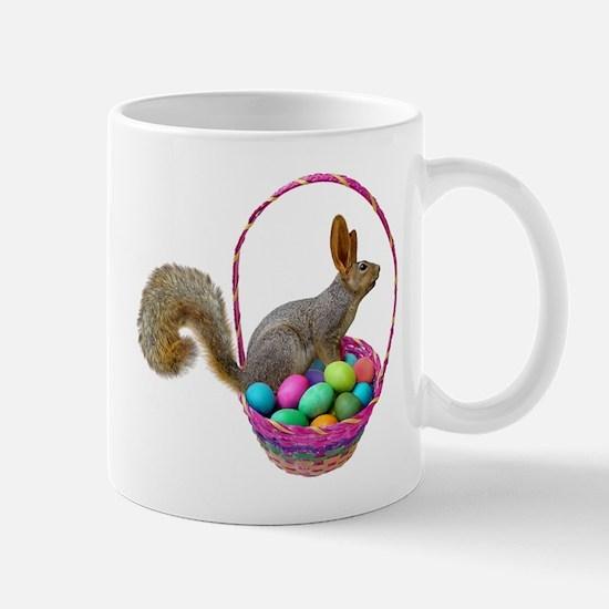 Easter Squirrel in Basket Mug