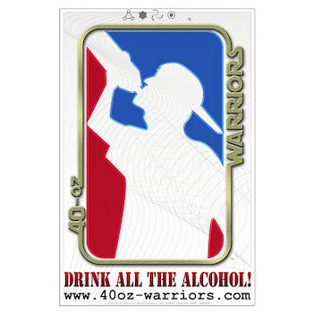 40-oz Logo Alt - Large Poster
