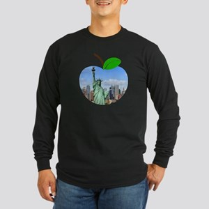 Big Apple New York Statue Of L Long Sleeve T-Shirt