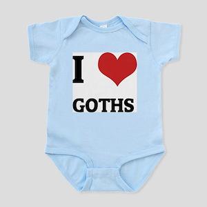 I Love Goths Infant Creeper