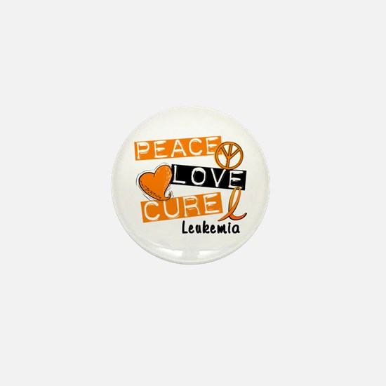 PEACE LOVE CURE Leukemia (L1) Mini Button