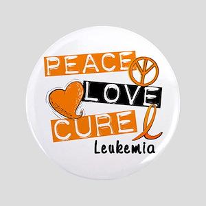 """PEACE LOVE CURE Leukemia (L1) 3.5"""" Button"""