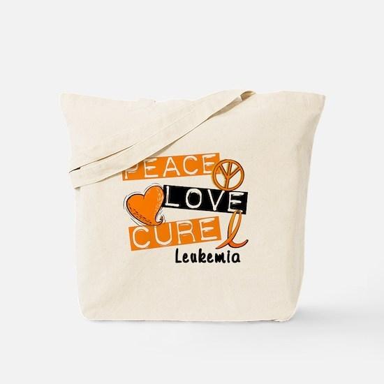 PEACE LOVE CURE Leukemia (L1) Tote Bag