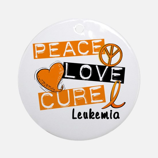 PEACE LOVE CURE Leukemia (L1) Ornament (Round)