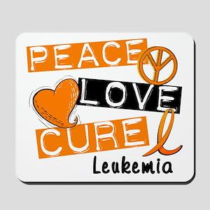 PEACE LOVE CURE Leukemia (L1) Mousepad