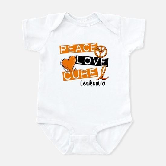 PEACE LOVE CURE Leukemia (L1) Infant Bodysuit