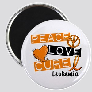 PEACE LOVE CURE Leukemia (L1) Magnet