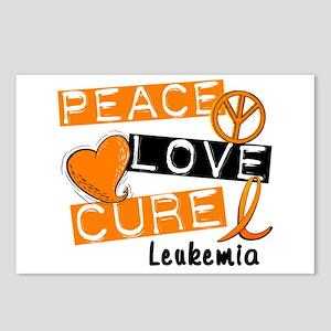 PEACE LOVE CURE Leukemia (L1) Postcards (Package o