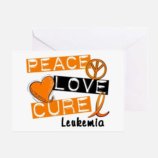 PEACE LOVE CURE Leukemia (L1) Greeting Card
