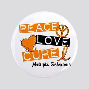 "PEACE LOVE CURE MS 3.5"" Button"