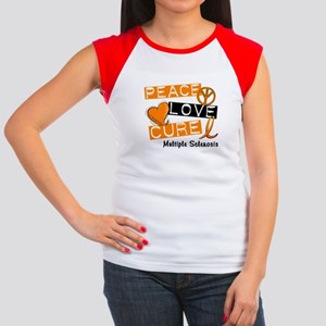 PEACE LOVE CURE MS Women's Cap Sleeve T-Shirt