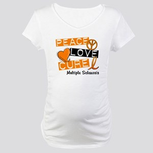 PEACE LOVE CURE MS Maternity T-Shirt