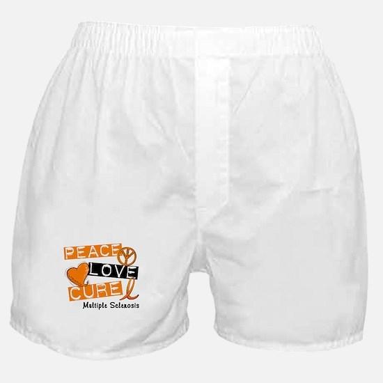 PEACE LOVE CURE MS Boxer Shorts