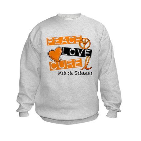 PEACE LOVE CURE MS Kids Sweatshirt