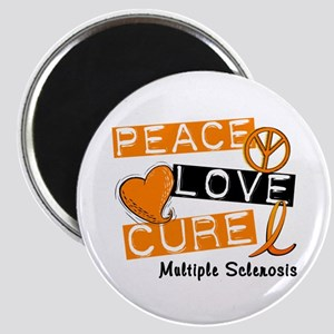 """PEACE LOVE CURE MS 2.25"""" Magnet (10 pack)"""