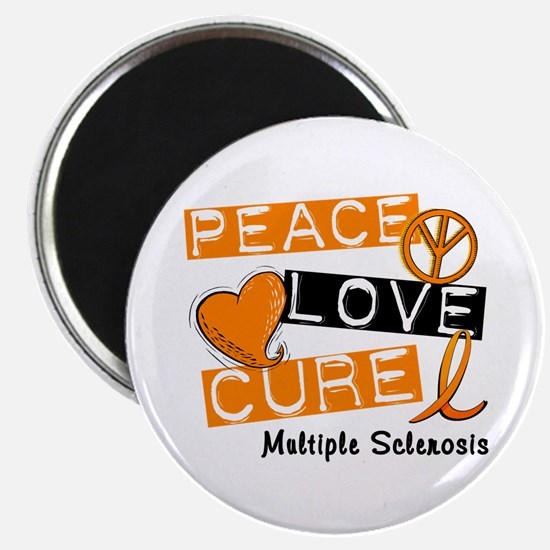 "PEACE LOVE CURE MS 2.25"" Magnet (10 pack)"