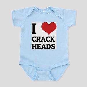 I Love Crack Heads Infant Creeper