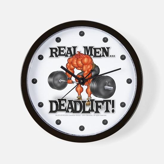 Real Men DEADLIFT! - Wall Clock