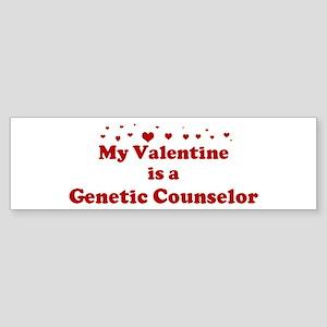 Valentine: Genetic Counselor Bumper Sticker