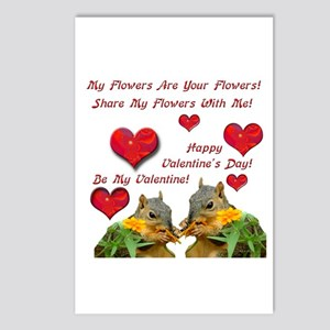 Squirrel Love Postcards (Package of 8)