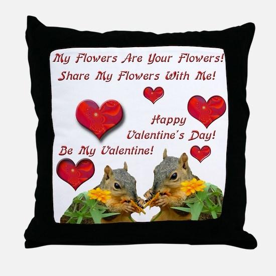 Squirrel Love Throw Pillow