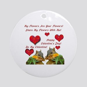 Squirrel Love Ornament (Round)