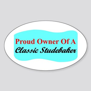 """""""Proud Stude Owner"""" Oval Sticker"""