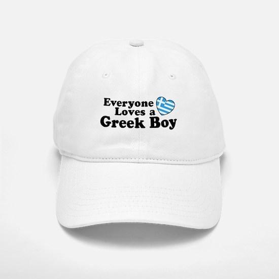 Everyone Loves a Greek Boy Baseball Baseball Cap