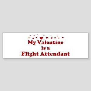 Valentine: Flight Attendant Bumper Sticker