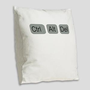 ctrl alt del Burlap Throw Pillow