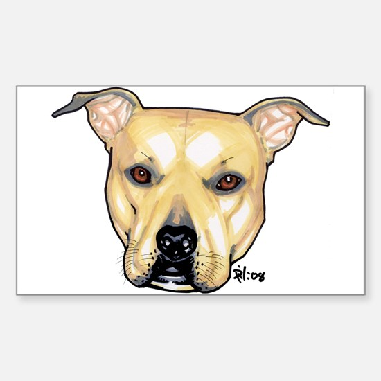 Pit bull Rectangle Decal