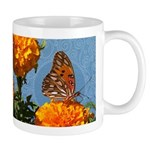 Fritillary Butterfly Doodle Critter Ceramic Mugs