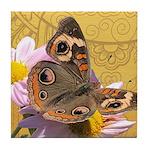 Buckeye Butterfly Doodle Critter Tile Coaster
