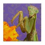 Praying Mantis Doodle Critter Tile Coaster