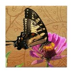 Swallowtail Butterfly Doodle Critter Tile Coaster