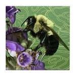 Bumble Bee Doodle Critter Tile Coaster