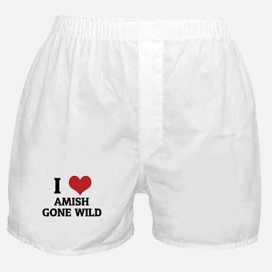 I Love Amish Gone Wild Boxer Shorts