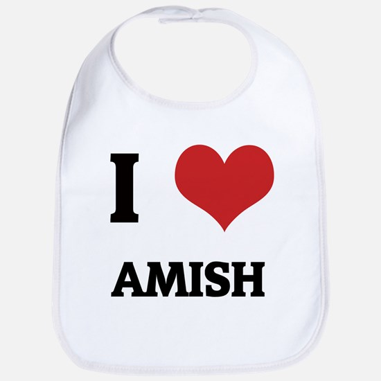 I Love Amish Bib
