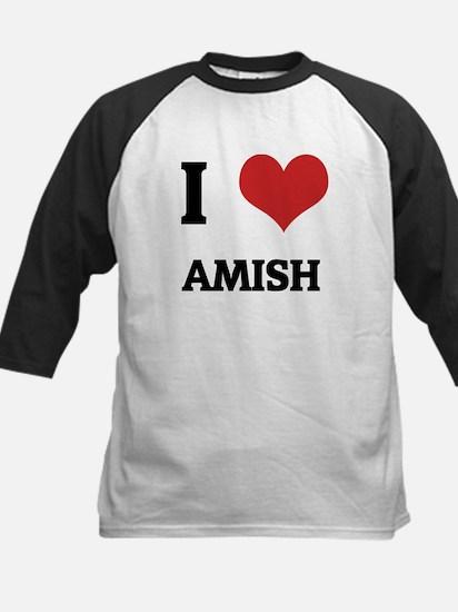 I Love Amish Kids Baseball Jersey