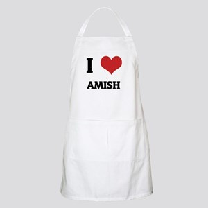 I Love Amish BBQ Apron