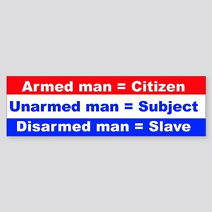 Armed Man bumper sticker