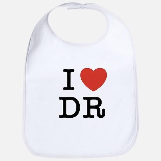 I Heart DR Bib