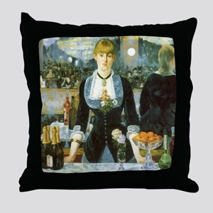 Manet, A Bar at the Folies-Bergere Throw Pillow