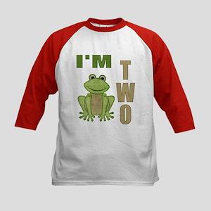 Frog- I'm two Kids Baseball Jersey