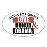 Love Honor & Obama Oval Sticker (10 pk)